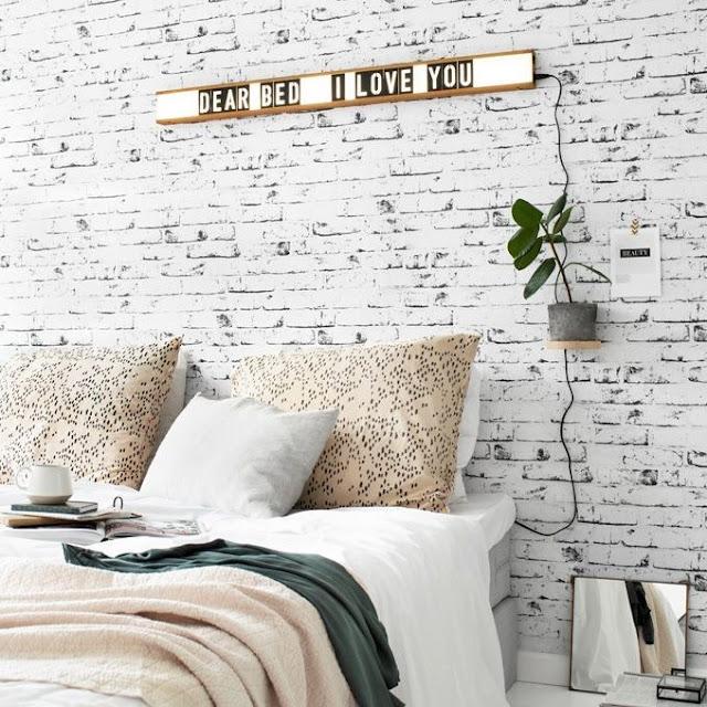 Wallpaper Dinding Kamar Tidur Motif Batu Alam
