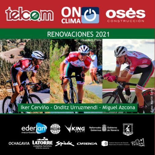 El equipo Telco,m On Clima Osés renueva a tres ciclistas