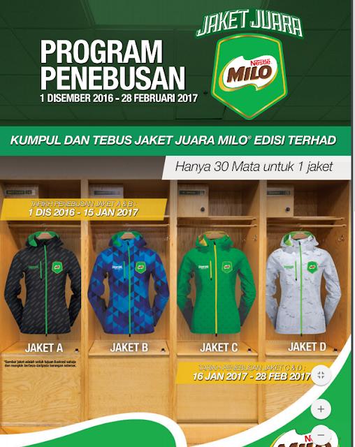 Nestle Milo Malaysia Program Penebusan Jaket Juara Edisi Terhad