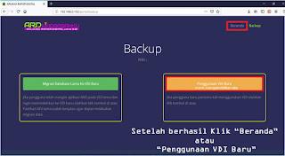 beckup aplikasi rapor digital