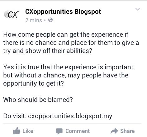 Peluang vs Pengalaman