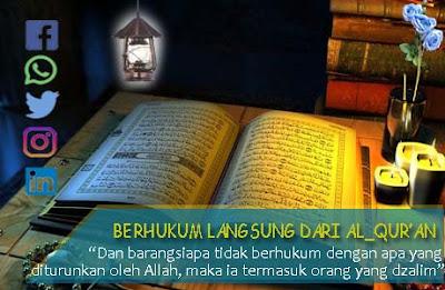 berhukum langsung dengan al-quran, menafikan kitab fikih