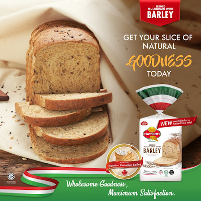 Massimo Roti Artisan Benih Multigrain Dengan Barli Edisi Khas, roti massimo baru, roti barli massimo,