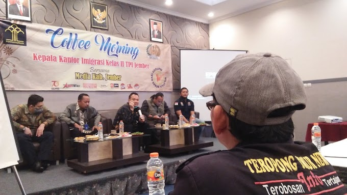 Adaptasi Kakanim Jember ,Coffee Morning Bersama Wartawan