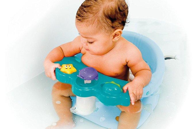 Soportes y asientos para bañar al bebé