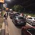 Motorists spend the night at Osborne Road in Ikoyi for violating curfew order in Lagos