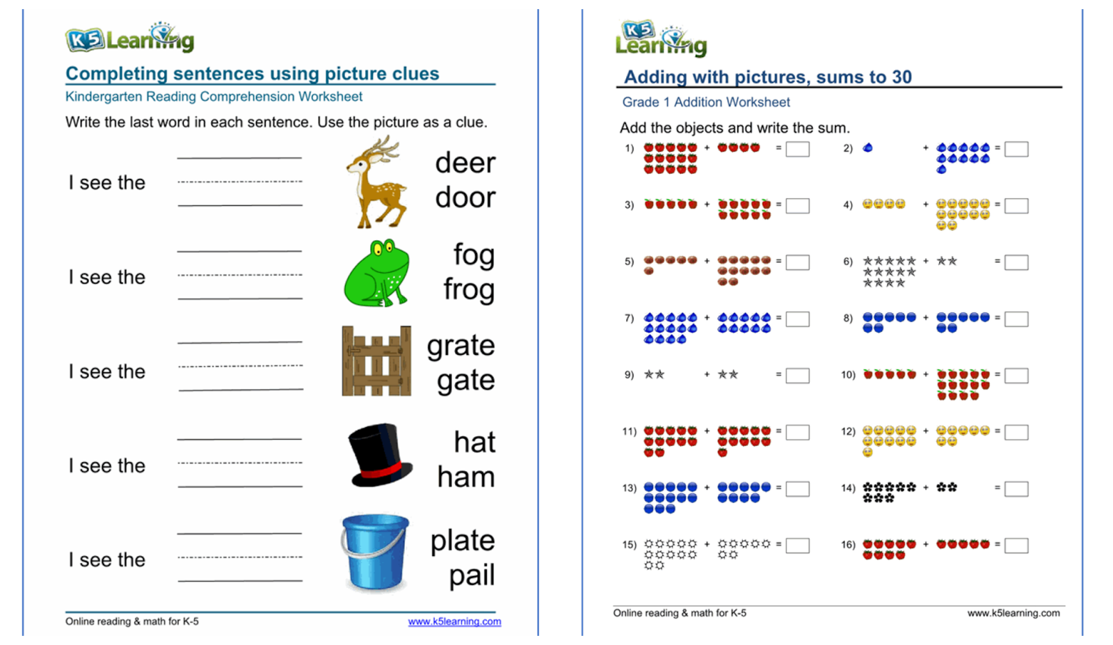 medium resolution of Free Math Printable Worksheets K5 Learning   Printable Worksheets and  Activities for Teachers