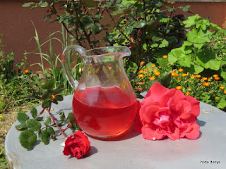 Rose water drink