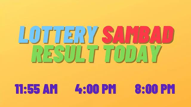 Lottery Sambad Today Result