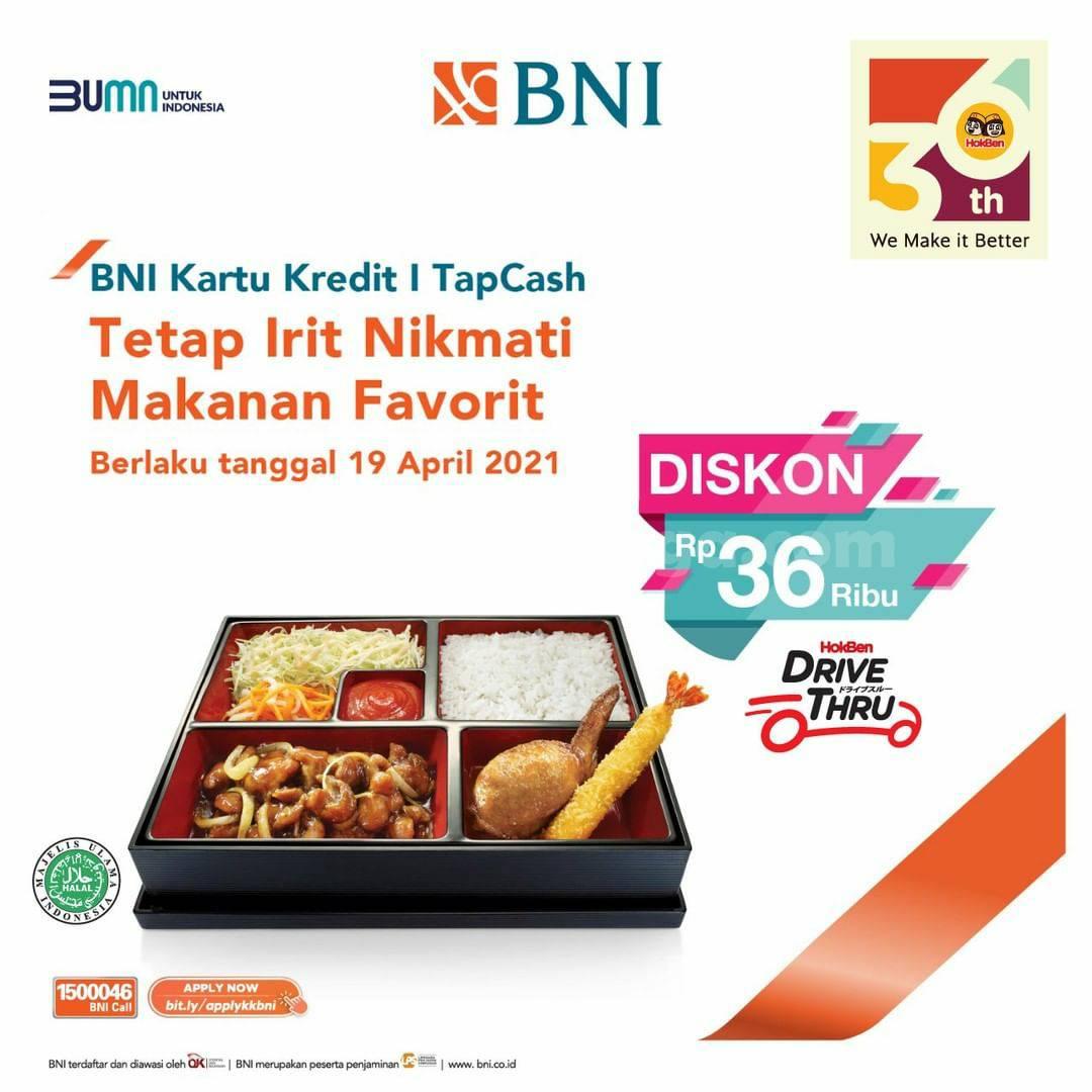 HOKBEN Promo DISKON Rp 36.000 dengan Kartu Kredit BNI & TAPCASH