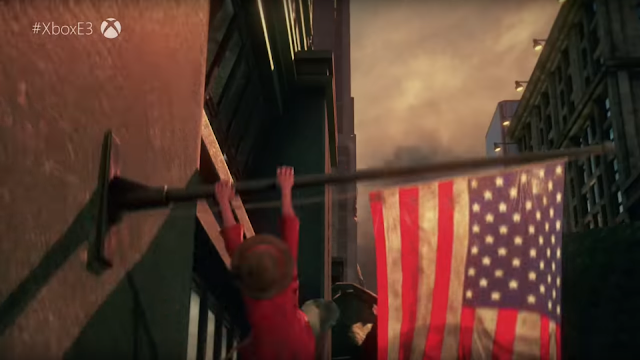Jump Force Luffy One Piece American Flag staff pole