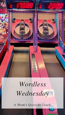 Skeeball at arcade