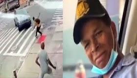 Momento que atropellan un dominicano en Alto Manhattan
