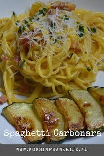 Een snel, makkelijk en zeer smaakvol pastagerecht spaghetti carbonara.