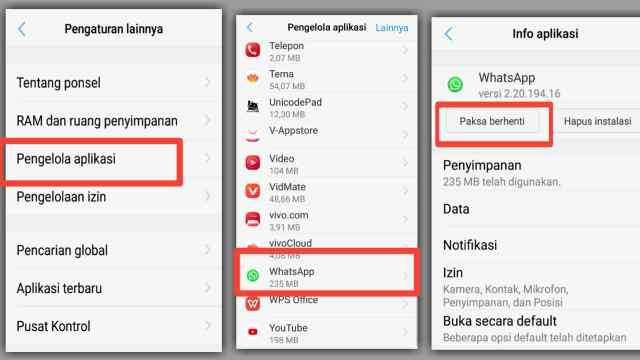 Cara Menonaktifkan Aplikasi WhatsApp Sementara