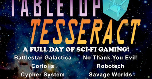 Oct. TABLETOP TESSERACT Program Schedule!