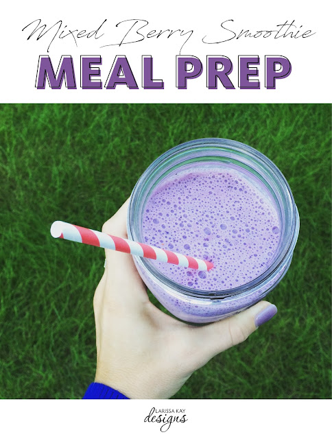 Mixed Berry Smoothie Meal Prep How To