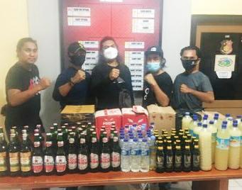 Jelang Puasa, Ratusan Botol Miras Disita Oleh Satnarkoba Polres Bima Kota