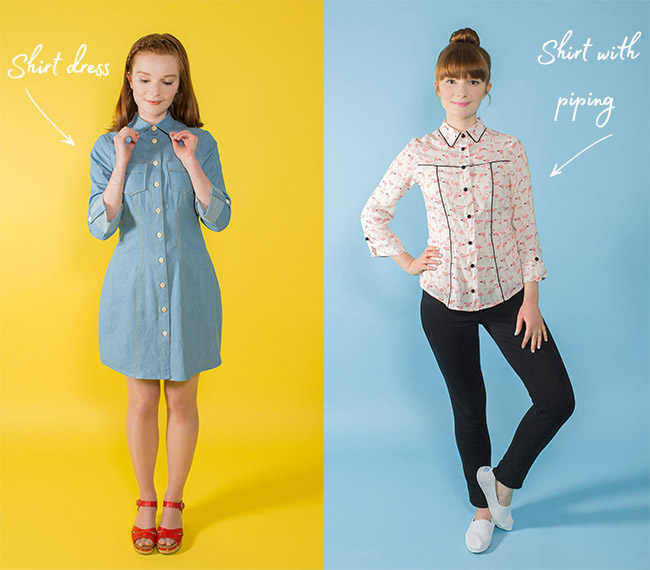 Rosa shirt or shirt dress from Tilly and Buttons