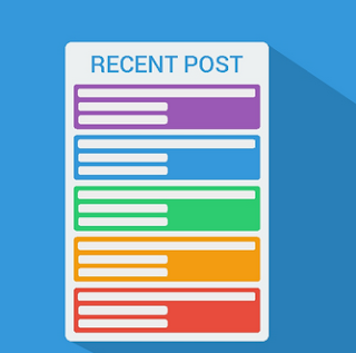 How to Create Cool Colorful Recent Post Widget on Blog