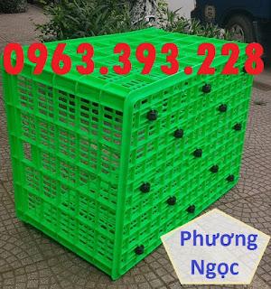 Sóng nhựa rỗng HS015, sọt nhựa đựng hàng 26 bánh xe, sọt nhựa kích thước lớn 26bx5