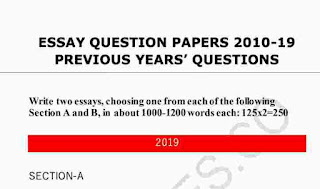 Last 10 Year UPSC Mains Essay Question Paper PDF 2010-2019