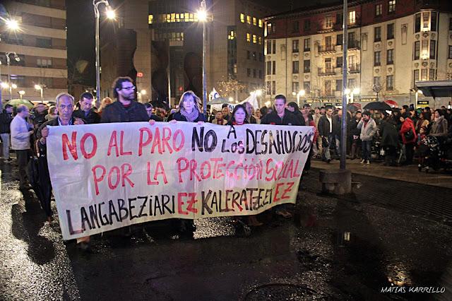 Manifestación tras el suicidio de Amaia Egaña