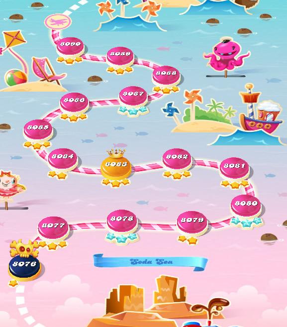 Candy Crush Saga level 8076-8090