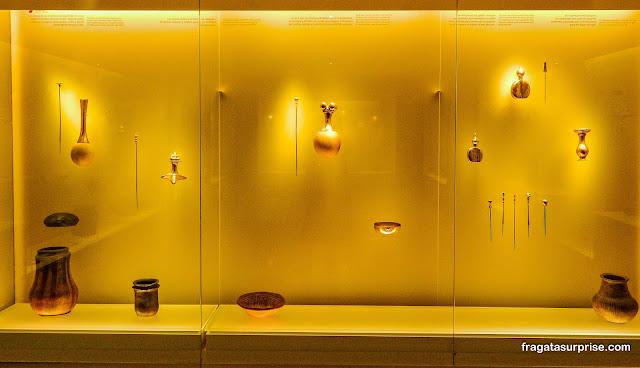 Vasilhas para rituais religiosos, Museu do Ouro de Bogotá