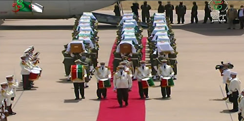 """Part of the official military reception """"Algerian TV"""""""