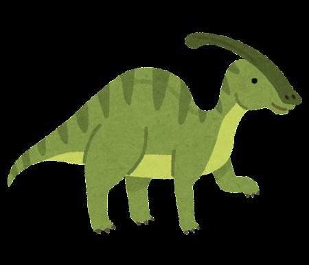 パラサウロロフスのイラスト(恐竜)