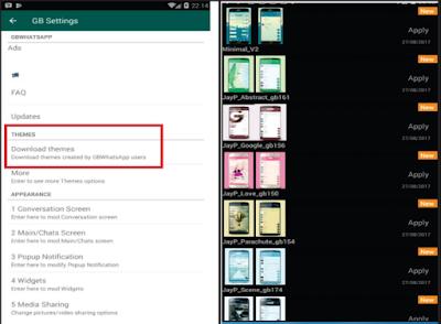 Langkah kedua mengganti background layar utama whatsapp