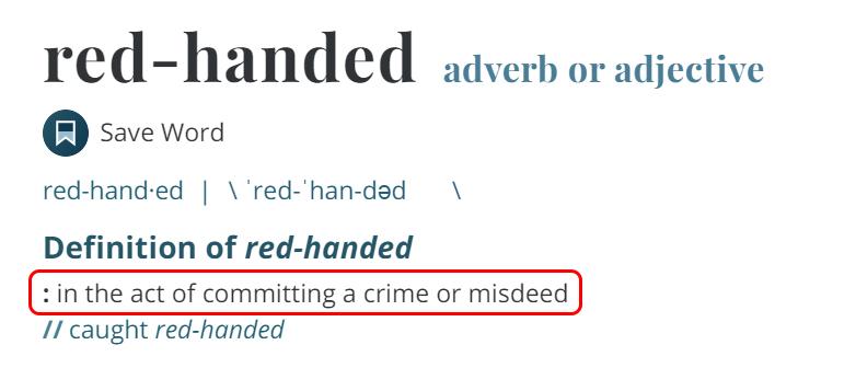 Penjelasan Red-Handed