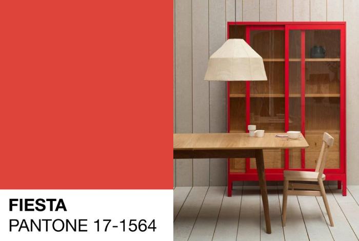 Tavolozza Colori 2016 Rosso Fiesta Pantone 17 1564 Dettagli Home