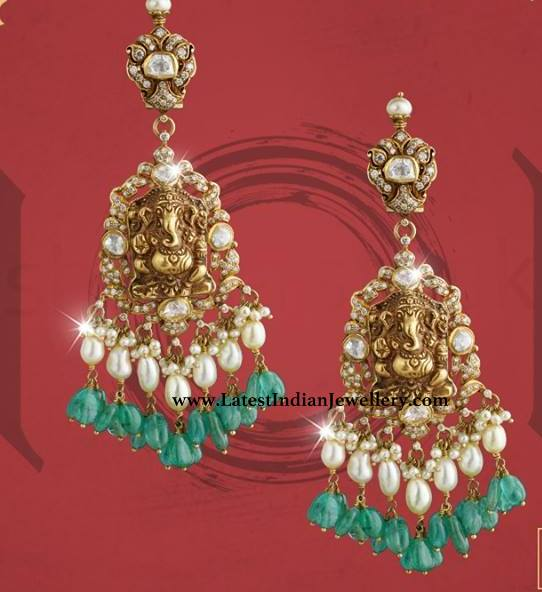 Kalasha Ganesh Earrings