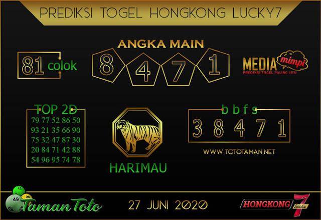 Prediksi Togel HONGKONG LUCKY 7 TAMAN TOTO 27 JUNI 2020
