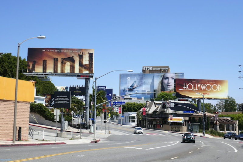 Hollywood Netflix series billboards Sunset Strip
