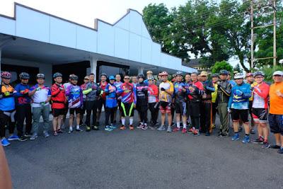 Jelang Pergantian Dirlantas, Polda Jambi Gelar Farewell Sepeda TNI Polri dan Komunitas Sepeda Jambi