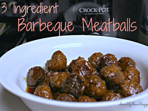 3 Ingredient Barbecue Meatballs