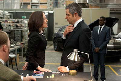 Johnny English Reborn 2011 movie still Rowan Atkinson Gillian Anderson