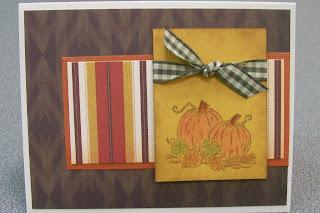 Handmade Fall Pumpkin Card