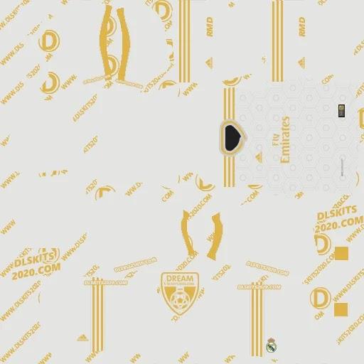 Real Madrid kits 2021-2022 Adidas - kit dream league soccer 2021 (Home)