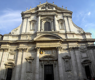 The church of Sant'Ignazio in Rome, where Pope  Gregory XV and his nephew are buried