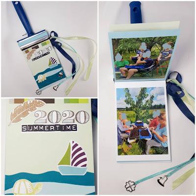 Pinselstiel-Fotoalbum Summertime Stampin' Up! www.eris-kreativwerkstatt.blogspot.de