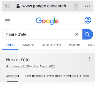 Google Recherche : reccourci heure