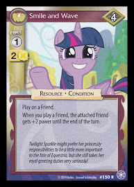 My Little Pony Smile and Wave The Crystal Games CCG Card