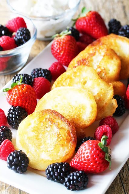 Fried pancakes. That's right, fried pancakes. They are like a heavenly mix of a donut and a pancake.