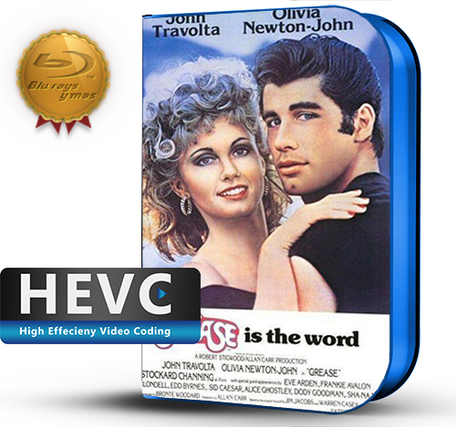Grease (1978) 1080P HEVC-8Bits BDRip Latino/Ingles(Subt.Esp)(Musical)