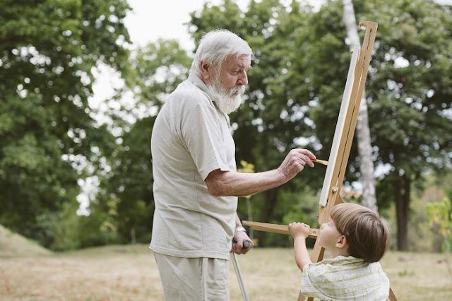el arte musica y pintura para adultos mayores