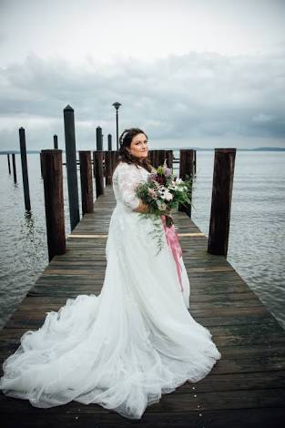 Ocean Cruise Beach Photos Full Figure Brides Wear Shoes Wedding
